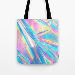 Holographic Foil Love Tote Bag
