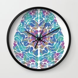 Human Anatomy Brain Psychedelic Gift Trippy Surreal Colorful Wall Clock