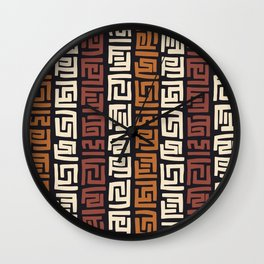 African Kuba Cloth Wall Clock