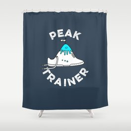 Peak Trainer Shower Curtain