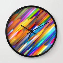 Colorful digital art splashing G391 Wall Clock