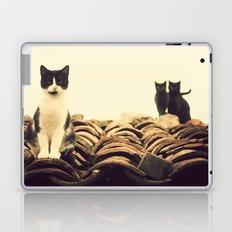 gatos en el tejado Laptop & iPad Skin