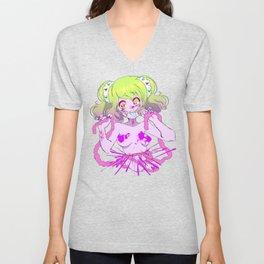 Guro Girl - Splatter CENSORED Unisex V-Neck
