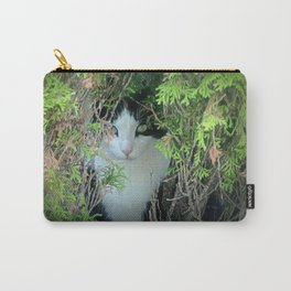 Tuxedo Cat Hiding Carry-All Pouch