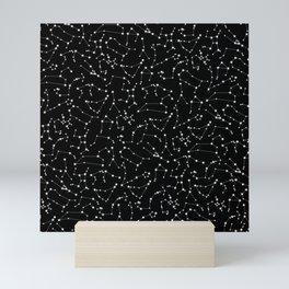 Zodiac Star Constellations Pattern Mini Art Print