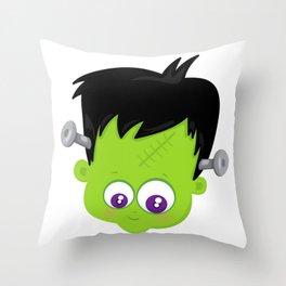 Cute Frankenstein Monster Throw Pillow