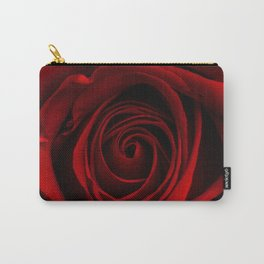 Dark Red Aesthetic Vintage Retro Roses Background Carry-All Pouch