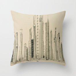 Doha Skyline Throw Pillow