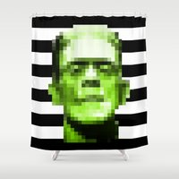 frank Shower Curtains featuring Frank by Portia Alice