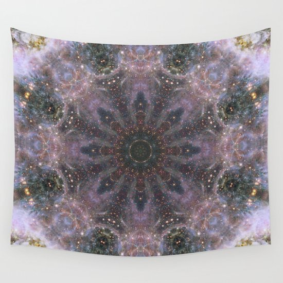 Space mandala no16 wall tapestry by dr pen society6 for Space themed tapestry