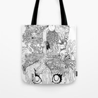 oasis Tote Bags featuring Oasis by KadetKat