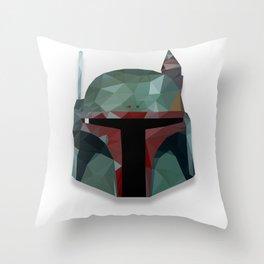 Boba Fett | Low Poly Fan Art Throw Pillow
