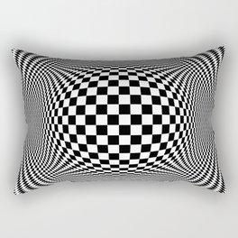 Optical Illusion Checkers Chequeres  Rectangular Pillow