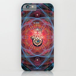 Hamsa - CHAI - Sacred Geometry iPhone Case
