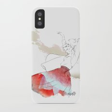 Dancing in the poppies Slim Case iPhone X