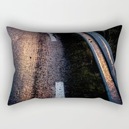 Road under the rain Rectangular Pillow