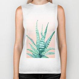 Desert Succulent Aloe Vera Biker Tank
