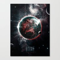 arrakis Canvas Prints featuring Dune Geidi Prime Planet Poster by Barrett Biggers