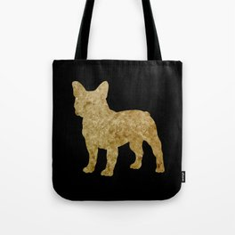 Golden Frenchie on black Tote Bag