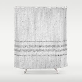 VINTAGE FARMHOUSE GRAIN SACK Shower Curtain