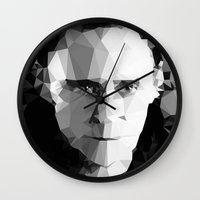 tom hiddleston Wall Clocks featuring TOM by THE USUAL DESIGNERS