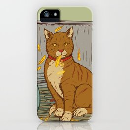The Cat That Ate the Canary iPhone Case