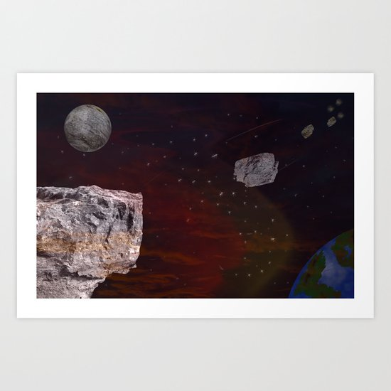 Meteorite Shower Art Print
