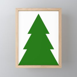 Minimal Christmas Tree Framed Mini Art Print