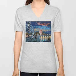 Greece: Thessaloniki In Memory Unisex V-Neck