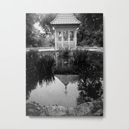 Reflection in the Garden Metal Print