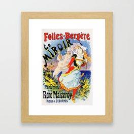 Jules Cheret Folies-Bergere Le Miroir 1896 Framed Art Print
