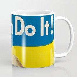 We Can Do It!, 1942 by J. Howard Miller Coffee Mug