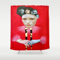 baroque Shower Curtains featuring Baroque by Mimi Rico