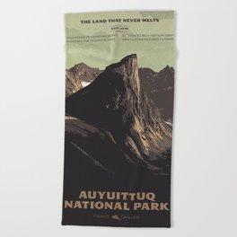Auyuittuq National Park Beach Towel