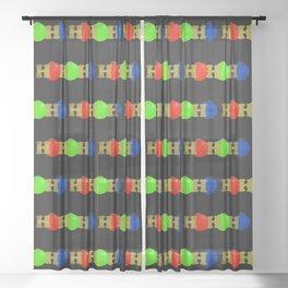 HO HO HO Sheer Curtain