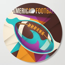 American Football Sport Ball Abstract Cutting Board