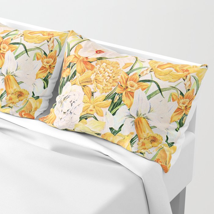 Wordsworth  and daffodils. Pillow Sham