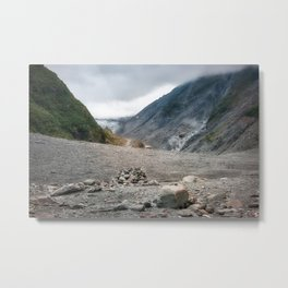 Rugged terrain in Waiho River Valley on the track to Franz Josef Glacier in NZ. Metal Print