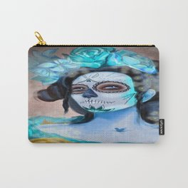 Day of the Dead Blue Longing Carry-All Pouch