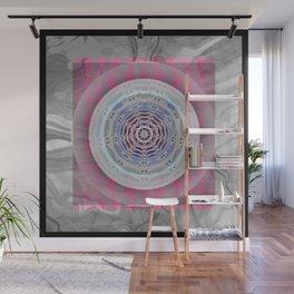 Hyperspace heart & mind meditation abstract mandala Wall Mural