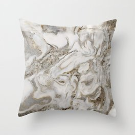 Crema marble Throw Pillow