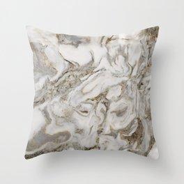 Crema marble Throw Pillow