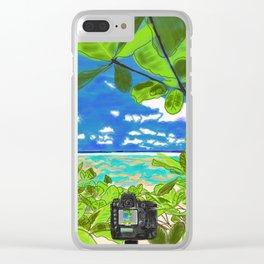 Beach photo shoot Clear iPhone Case