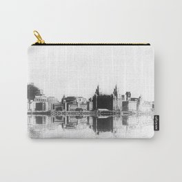 Liverpool Waterfront Skyline (Digital Art) Carry-All Pouch