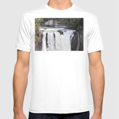 When Will It Fall? MEDIUM Mens Fitted Tee White