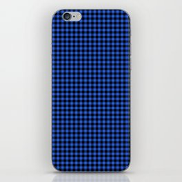 Mini Black and Royal Blue Cowboy Buffalo Check iPhone Skin