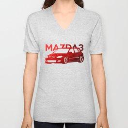 Mazda 3 - classic red - Unisex V-Neck