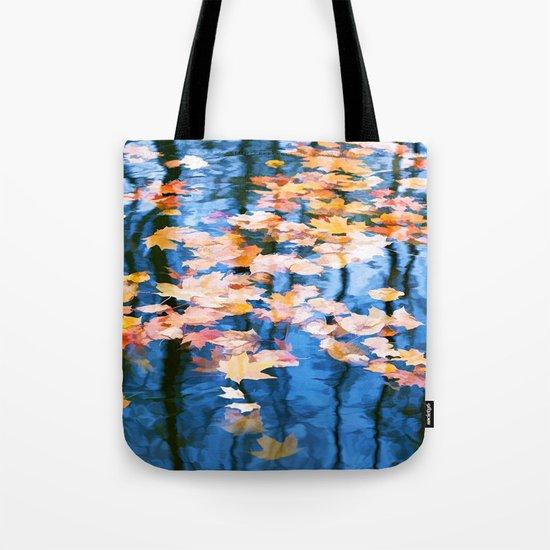 Fallen leaves in water Tote Bag