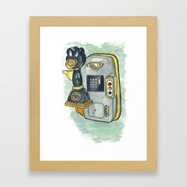 Toontown Phone Framed Art Print