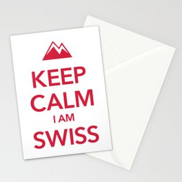 KEEP CALM I AM SWISS Stationery Cards